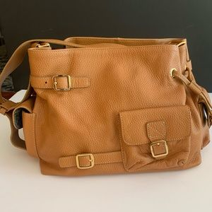Like New!  MAXX New York Camel Leather Bag